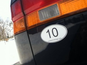 10 day challenge car sticker